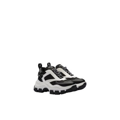 プラダ PRADA スニーカー シューズ 靴 ブラック ホワイト カーフレザー ナイロン ファブリック