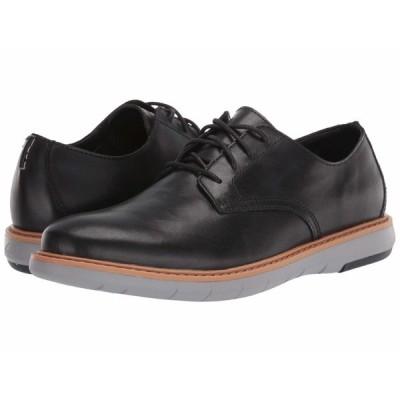 クラークス オックスフォード シューズ メンズ Draper Lace Black Leather w/ Grey Outsole