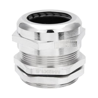 uxcell メタル防水コネクタ M42*1.5 ファスナー ロックナット詰め物 ケーブル グランド 22-30mm