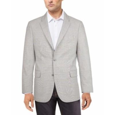 トミー ヒルフィガー メンズ ジャケット・ブルゾン アウター Men's Modern-Fit Patterned Blazer Grey/blue Plaid