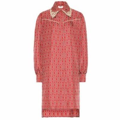 フェンディ Fendi レディース ワンピース ワンピース・ドレス Printed silk-twill shirt dress Locra