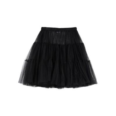 ディースクエアード DSQUARED2 ひざ丈スカート ブラック 40 ナイロン 100% ひざ丈スカート