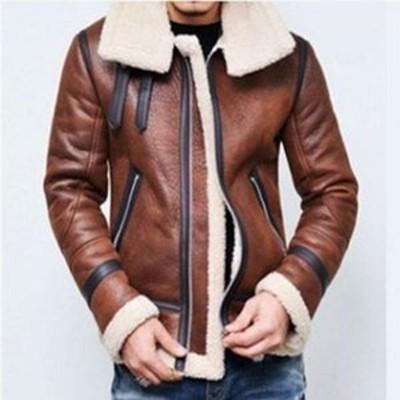 ライダースジャケット メンズ フェイクレザージャケット ブルゾン ジャケット PU革 バイクジャケット アウター 裏起毛 裏ボア 防寒 暖か