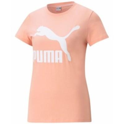 プーマ レディース シャツ トップス Plus Size Cotton Classics Logo T-Shirt Apricot Blush
