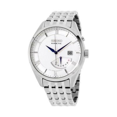 腕時計 セイコー Seiko Core Kinetic White Dial Stainless Steel Men's Watch SRN055