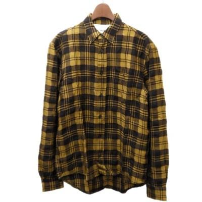 【3月29日値下】ACNE STUDIOS チェックシャツ ブラウン サイズ:44 (渋谷店)