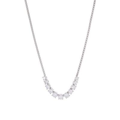ナディール レディース ネックレス・チョーカー・ペンダントトップ アクセサリー Graduated Stone Frontal Necklace RHODIUM