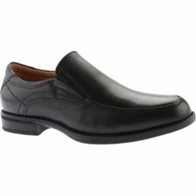 フローシャイム スリッポン・フラット Midtown Moc Toe Slip On Black Smooth Leather