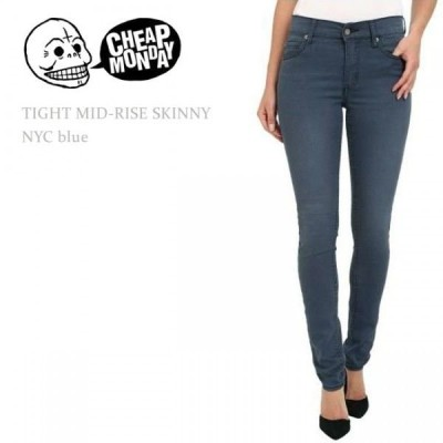 【SALE】 Cheap Monday チープマンデー TIGHT Mid-Rise Skinny NYC Blue スキニー カラーデニム