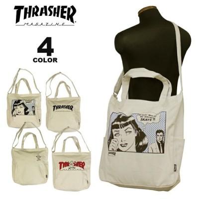 (公式) スラッシャー ショルダーバック THRASHER CANVAS 2WAY TOTE SHOULDER BAG L ショルダートート トートバック メンズ レディース ユニセックス 全4色