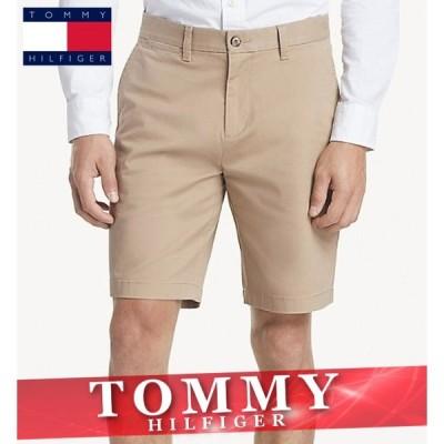 トミーヒルフィガー ショートパンツ ハーフ 短パン チノパン メンズ エッセンシャル ロゴ 無地 ボトムス 半ズボン 新作 TOMMY