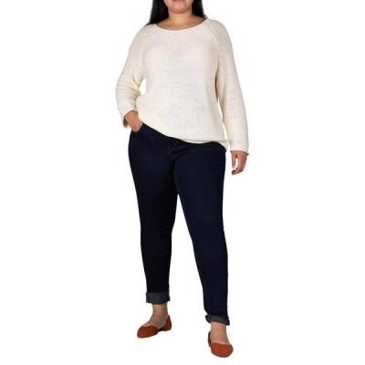 ジャグジーンズ レディース デニムパンツ ボトムス Plus Size Carter Girlfriend Crosshatch Denim Jeans