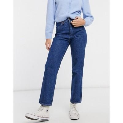 ラングラー レディース デニムパンツ ボトムス Wrangler Wild West high rise straight leg jeans in dark wash