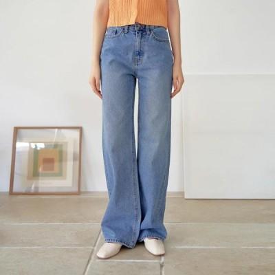 TWEE レディース ジーンズ Wagon wide denim trousers