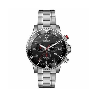 腕時計 エドックス メンズ EDOX 10227 3M NBN Men's Chronorally S Black Quartz Watch