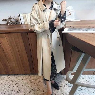 トレンチコート レディース チェスターコート ロング アウター 秋冬 トップス コート 通勤 レディースコート スリム OL ロング丈 お洒落 大きいサイズ