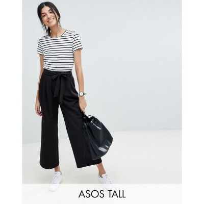 エイソストール レディース スカート ボトムス ASOS DESIGN Tall mix & match culottes with tie waist Black