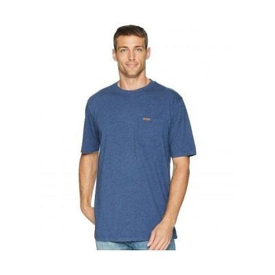 Pendleton ペンドルトン メンズ 男性用 ファッション Tシャツ Short Sleeve Deschutes Pocket Tee - Navy Blue Heather