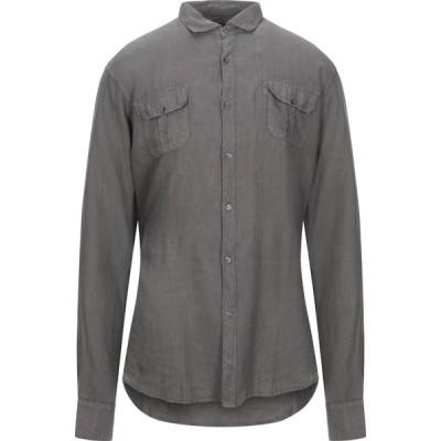 トラサルディ TRUSSARDI JEANS メンズ シャツ トップス linen shirt Lead