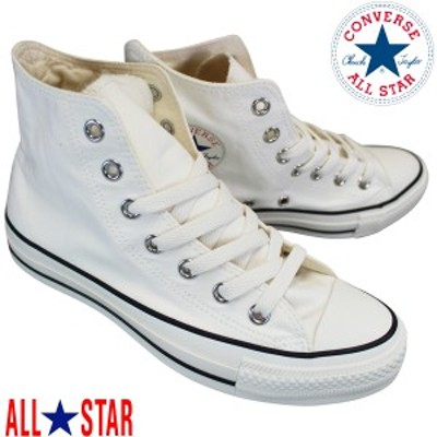 コンバース CONVERSE オールスター ウォッシュドキャンバス HI ホワイト ALL STAR WASHEDCANVAS HI 1SC128 レディース ハイカットスニー