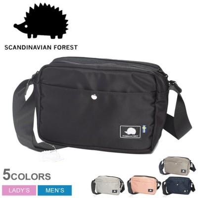 スカンジナビアンフォレスト ショルダーバッグ メンズ レディース 2way プリントショルダーバッグ SCANDINAVIAN FOREST ブラック