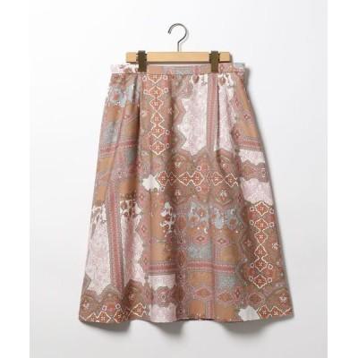 SCAPA Lサイズ/スキャパエルサイズ ラティスサラサプリントスカート ベージュ 42