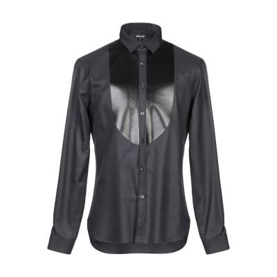 ジャストカヴァリ JUST CAVALLI シャツ ブラック 48 コットン 100% / レーヨン / ポリウレタン シャツ