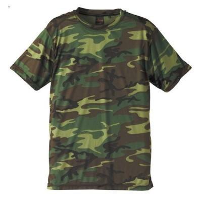 /メール便送料無料/自衛隊 Tシャツ メンズ ミリタリー J.S.D.F. 半袖 ドライクールナイス カモフラージュTシャツ/ウッドランド