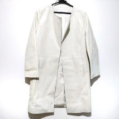 ギャルリーヴィー GALERIE VIE コート サイズ1 S レディース - アイボリー 長袖/レザー/冬【中古】20210310