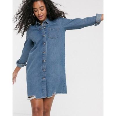 ジェイディーワイ レディース ワンピース トップス JDY oversized denim dress in blue