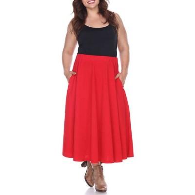ホワイトマーク レディース スカート ボトムス Plus Size Tasmin Midi Skirt