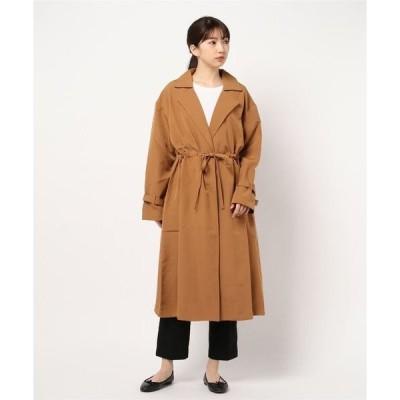 コート トレンチコート とろみ素材ドロストトレンチコート