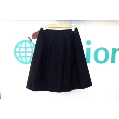 LANVIN COLLECTION ランバンコレクション  ひざ丈フレアスカート  38 黒