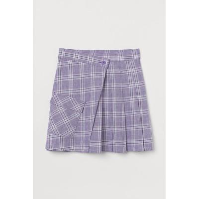 H&M - プリーツデザインスカート - パープル