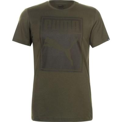 プーマ Puma メンズ Tシャツ トップス Box QT T Shirt Forest Night