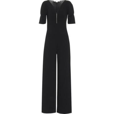 ステラ マッカートニー Stella McCartney レディース オールインワン ジャンプスーツ ワンピース・ドレス Knit wide-leg jumpsuit Black