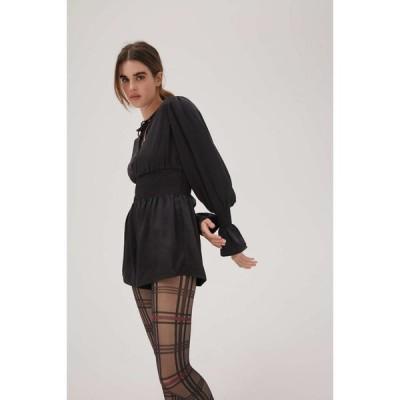 WeWoreWhat レディース オールインワン ワンピース・ドレス Smocked Waist Romper Black