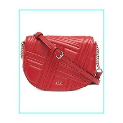 【新品】DKNY Allen Leather Saddle Bag RED(並行輸入品)