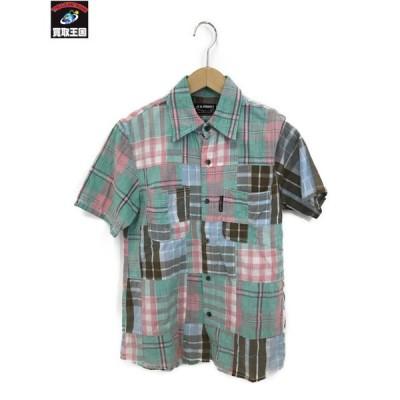 HOLLYWOOD RANCH MARKET パッチワークシャツ[▼]