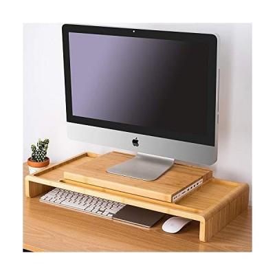 LAY10A 本物の木製 USB 3.0 マルチメディアモニタノトパソコンスタンドライザ オガナイザ付き