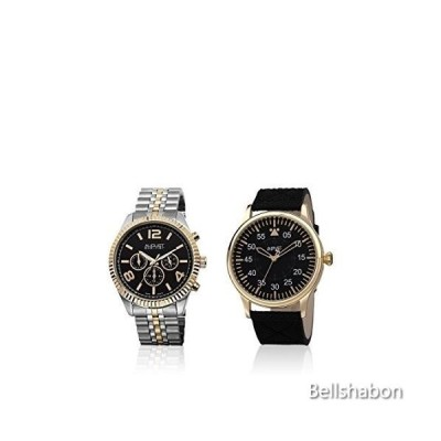 August Steiner Luxurious 2 Piece Men's Watch Gift Set - Multifunction Watch on Bracelet and Pilot Style Watch On Leather - AS8120 並行輸入品