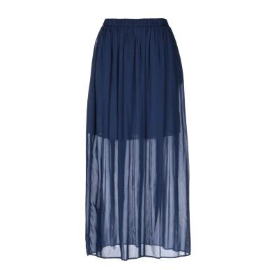 セミクチュール SEMICOUTURE ロングスカート ブルー 42 コットン 69% / シルク 31% ロングスカート