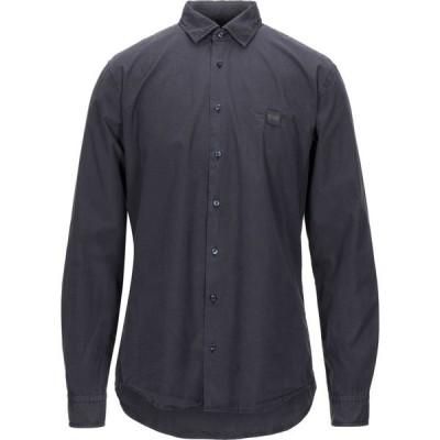 ヒューゴ ボス BOSS HUGO BOSS メンズ シャツ トップス solid color shirt Steel grey
