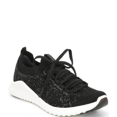エイトレックス レディース スニーカー シューズ Carly Knit Lace-Up Sneakers Black