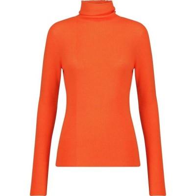 ガニー GANNI レディース ニット・セーター タートルネック トップス Merino wool turtleneck sweater Flame