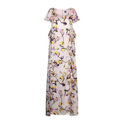 1-ONE ロングワンピース&ドレス ドーブグレー 40 シルク 100% ロングワンピース&ドレス