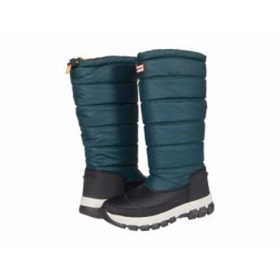 HUNTER ハンター レディース 女性用 シューズ 靴 ブーツ スノーブーツ Original Insulated Snow Boot Tall Green【送料無料】