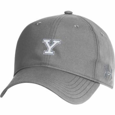 アンダーアーマー Under Armour メンズ キャップ 帽子 Yale Bulldogs Grey Performance 2.0 Adjustable Hat
