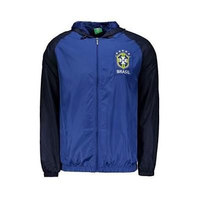 シービーエフ サッカーブラジル代表公式 フード付きウィンドブレーカー ブルー M(日本サイズM〜L)