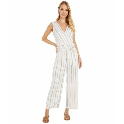 ビービーダコタ ジャンプスーツ トップス レディース Know Your Stripe Printed Rayon Jumpsuit Ivory